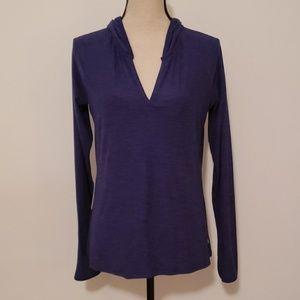 Danskin Now purple athletic pullover shirt.